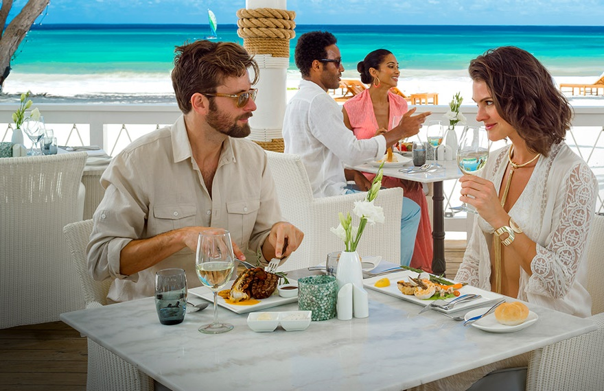 Dining at Sandals